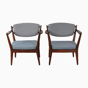 Kaminstolen Stühle von Fredrik Kayser für Rastad & Relling, 2er Set