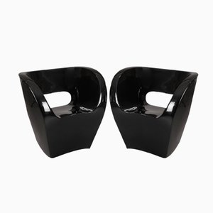 Black Little Albert Armchairs by Ron Arad, 2000, Set of 2