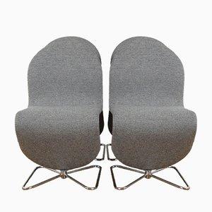 Modell 123 Stühle von Verner Panton für Fritz Hansen, 1978, 4er Set