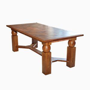 Ausziehbarer Esstisch aus Naturholz von Baptistin Spade, 1950er