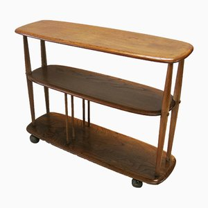 Mid-Century British Elm Trolley by Lucian Ercolani for Ercol, 1950s