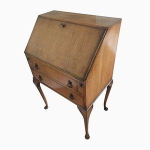 Britischer Vintage Bureau Schreibtisch aus Heller Eiche
