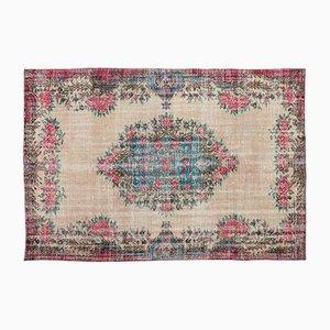 Überfärbter Mehrfarbiger Türkischer Vintage Teppich, 1960er