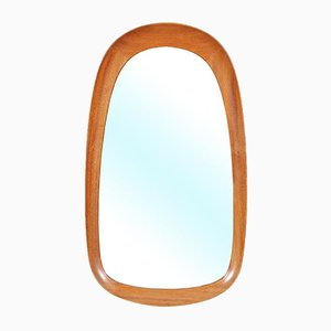 Mid-Century Swedish Mahogany Mirror from Atelier G&T, 1960s