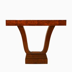 French Art Deco Maple Side Table, 1925