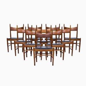 Chaises de Salle à Manger en Teck par Illum Wikkelsø pour Brøderna Tromborg, 1950s, Set de 10
