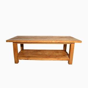 Großer Italienischer Vintage Eichenholz Tisch