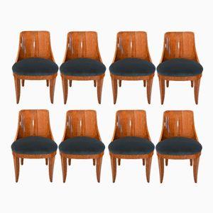 Art Deco Stühle von Emile Leon Bouchet, 1925, 8er Set