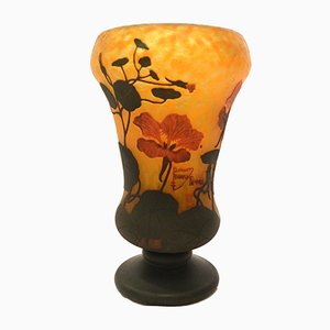 French Floral Vase by Daum Freres Nancy for Daum, 1911