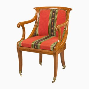 French Antique Mahogany Armchair, 1830