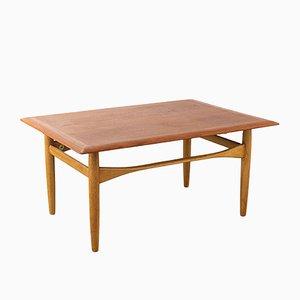 Dutch Teak & Oak Table by Aksel Bender Madsen for Bovenkamp, 1960s