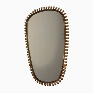 Scandinavian Brass Mirror for Josef Frank