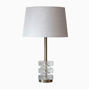 Lámpara de mesa sueca de Carl Fagerlund para Orrefors