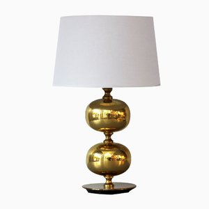 Double Brass Table Lamp by Henrik Blomqvist for Tranås Stilarmatur