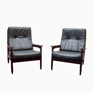 Scandinavian Rosewood Armchairs, 1960s, Set of 2
