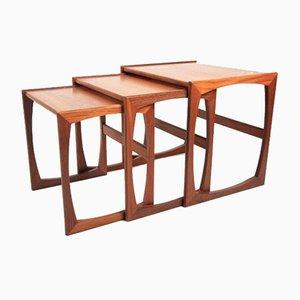 Tavolini a incastro Mid-Century in teak di G-Plan, Inghilterra, anni '60