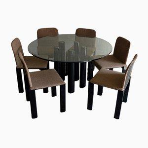 Tavolo da pranzo con 6 sedie di Marco Zanuso per Zanotta, 1979