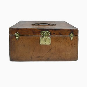 Vintage French Leather Trunk Louis Vuitton