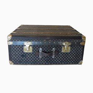 French Checkered Trunk from Moynat, 1930s