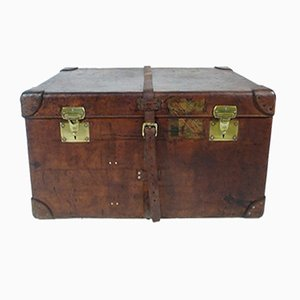 French Leather Trunk from Moynat, 1923