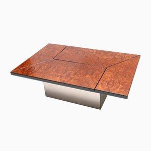 Mesa de centro de bar de nudo de árbol de Paul Michel, años 70