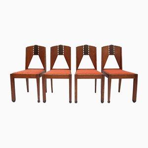 Amsterdamer Schule Stühle, 1930er, 4er Set