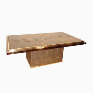 Stone and Bronze Coffee Table by Ad Stam, 1970s