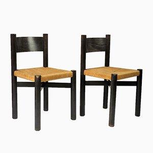 Französische Méribel Stühle von Charlotte Perriand für Georges Blanchon, 1948