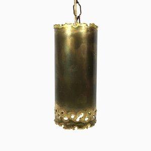 Lámpara colgante brutalista pequeña de latón de Svend Aage Holm Sørensen, años 60