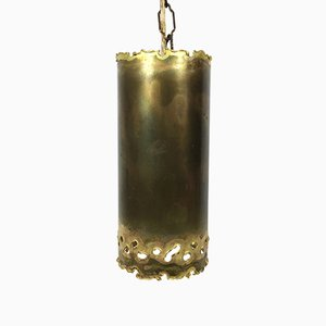 Small Brutalist Brass Hanging Lamp by Svend Aage Holm Sørensen, 1960s