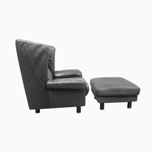 Model DS23 Club Chair with Ottoman by Franz-Josef Schulte for De Sede, 1970s