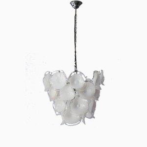 Lámpara de araña italiana de vidrio soplado de Mazzega, años 60