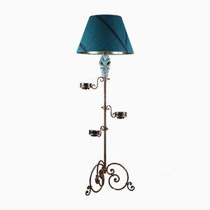 Stehlampe aus Vergoldetem & Schmiedeeisen, 1950er