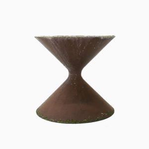 Brown Diabolo Spindle Shaped Planter by Willy Guhl & Anton Beer for Eternit, 1950s