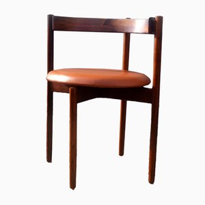 Danish Rosewood & Tan Leather Armchair by Hugo Frandsen for Børge M. Søndergaard, 1960s