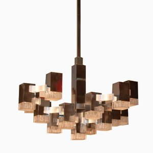 Italian Modernist Sculptural Chandelier from Gaetano Sciolari, 1960s