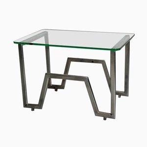 Französischer Rationalistischer Tisch aus Verchromten Metall, 1930er
