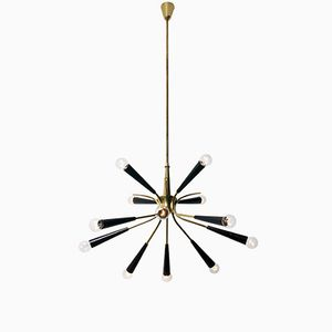 Brass Sputnik Chandelier from Stilnovo, 1950s