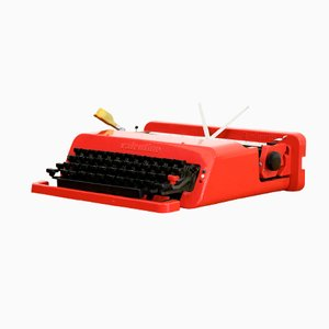Spanish Valentine Portable Typewriter by Ettore Sottsass Jr. & Perry A. King for Olivetti, 1968