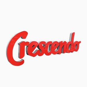 Enseigne Crescendo Vintage, France, 1980s