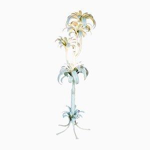 Große Italienische Hollywood Regency Palmen Stehlampe, 1970er