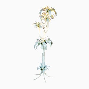 Large Italian Hollywood Regency Palm Tree Floor Lamp, 1970s
