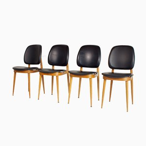 Chaises d'Appoint par Pierre Guariche pour L´Espace Le Corbusier, France, 1950s, Set de 4