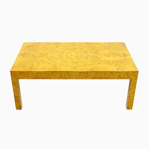 French Burl Wood Coffee Table, 1970s