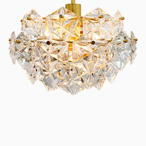 Four-Tiered Gilded Crystal Glass Chandelier from Kinkeldey, 1960s