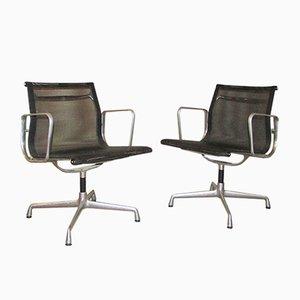 EA 107 Stühle aus Aluminium von Charles & Ray Eames für Vitra, 1982, 2er Set