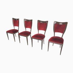 Mahagoni Stühle von Paolo Buffa, 1950er, 4er Set