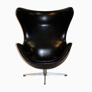 Egg Chair en Vinyle par Arne Jacobsen pour Fritz Hansen, 1961