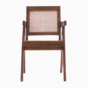 Silla de conferencias vintage de teca de Pierre Jeanneret para Chandigarh