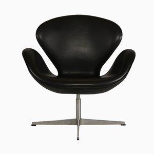 Schwarzer Swan Chair von Arne Jacobsen für Fritz Hansen, 1981